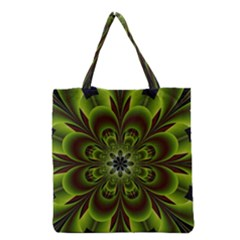 Abstract Flower Artwork Art Floral Green Grocery Tote Bag