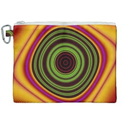 Digital Art Background Yellow Red Canvas Cosmetic Bag (xxl) by Sudhe