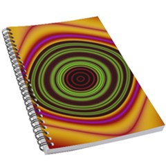 Digital Art Background Yellow Red 5 5  X 8 5  Notebook