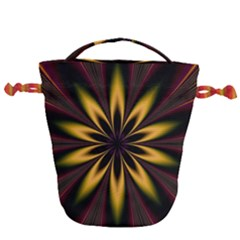 Fractal Artwork Idea Allegory Art Pattern Drawstring Bucket Bag