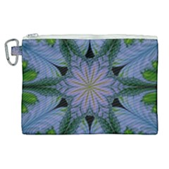 Abstract Flower Artwork Art Green Canvas Cosmetic Bag (xl) by Sudhe