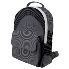 Digital Art Background Black White Flap Pocket Backpack (small)