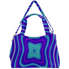 Abstract Artwork Fractal Background Blue Double Compartment Shoulder Bag