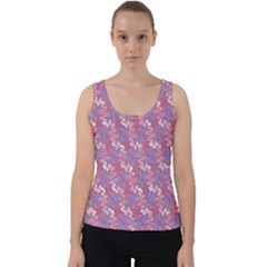Funny Design Velvet Tank Top