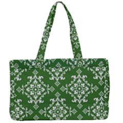 Green Damask Canvas Work Bag by TimelessFashion