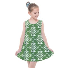Green Damask Kids  Summer Dress by TimelessFashion