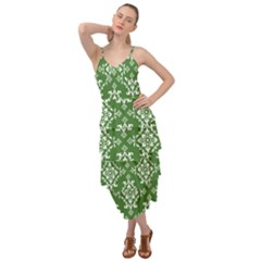 Green Damask Layered Bottom Dress by TimelessFashion