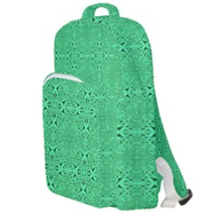 Green Harmony Double Compartment Backpack by TimelessFashion