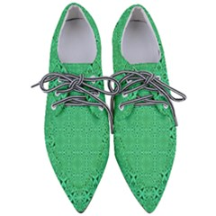 Green Harmony Pointed Oxford Shoes