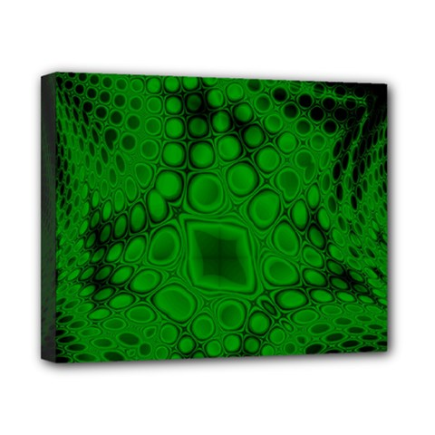 Background Texture Design Geometric Green Black Canvas 10  X 8  (stretched)