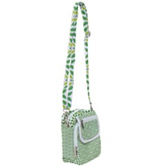 Green Leafs 1 Shoulder Strap Belt Bag