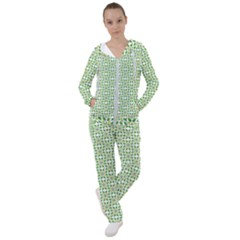 Green Leafs 1 Women s Tracksuit by TimelessFashion