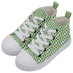 Green Leafs 1 Kids  Mid Top Canvas Sneakers by TimelessFashion