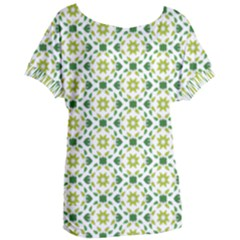 Green Leafs 2 Women s Oversized Tee by TimelessFashion