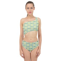 Green Leafs 2 Spliced Up Two Piece Swimsuit by TimelessFashion