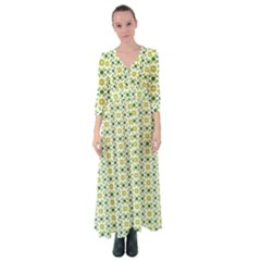Green Leafs 2 Button Up Maxi Dress by TimelessFashion