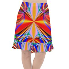 Abstract Art Fractal Art Fishtail Chiffon Skirt