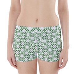 Green Leafs 3 Boyleg Bikini Wrap Bottoms by TimelessFashion