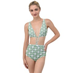 Green Leafs 3 Tied Up Two Piece Swimsuit