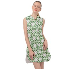 Green Leafs 3 Sleeveless Shirt Dress by TimelessFashion