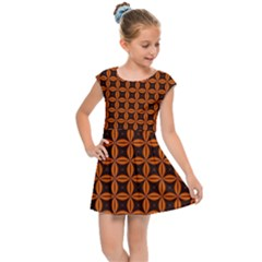 Background Texture Design Geometric Kids  Cap Sleeve Dress by Sudhe