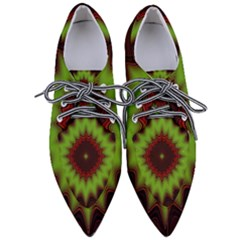 Fractal Artwork Idea Allegory Geometry Pointed Oxford Shoes