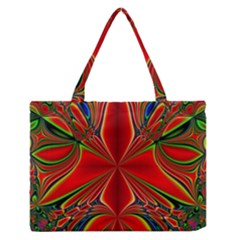 Abstract Abstract Art Fractal Zipper Medium Tote Bag by Sudhe