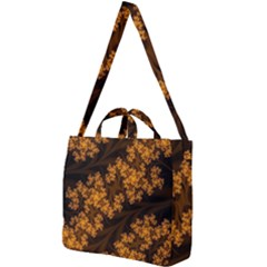 Abstract Fractal Pattern Artwork Flora Square Shoulder Tote Bag