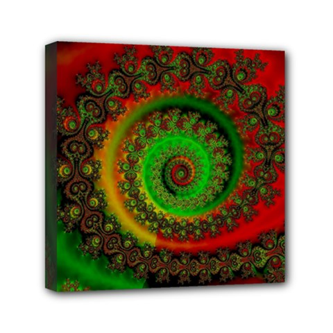 Abstract Fractal Pattern Artwork Art Mini Canvas 6  X 6  (stretched) by Sudhe