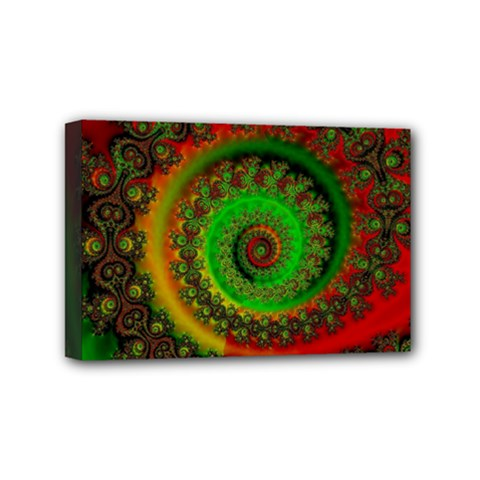 Abstract Fractal Pattern Artwork Art Mini Canvas 6  X 4  (stretched) by Sudhe