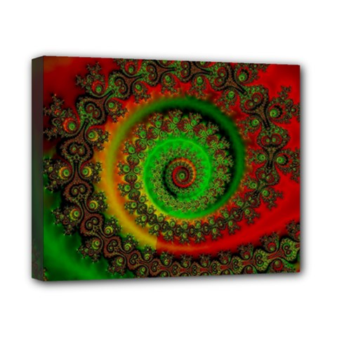Abstract Fractal Pattern Artwork Art Canvas 10  X 8  (stretched) by Sudhe