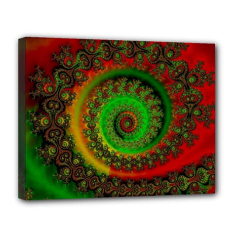 Abstract Fractal Pattern Artwork Art Canvas 14  X 11  (stretched) by Sudhe