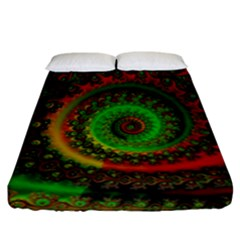 Abstract Fractal Pattern Artwork Art Fitted Sheet (california King Size) by Sudhe
