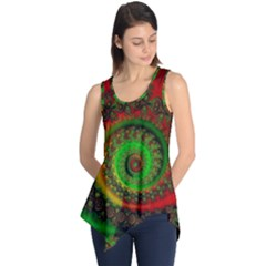 Abstract Fractal Pattern Artwork Art Sleeveless Tunic by Sudhe