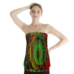 Abstract Fractal Pattern Artwork Art Strapless Top by Sudhe