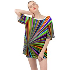 Background Design Pattern Colorful Oversized Chiffon Top