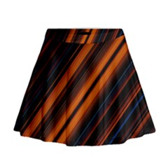 Background Pattern Lines Mini Flare Skirt
