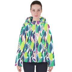 Misc Leaves                      Women s Hooded Puffer Jacket