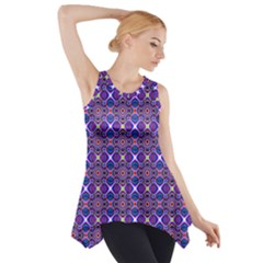 Background Pattern Geometrical Side Drop Tank Tunic