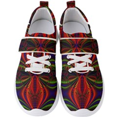 Abstract Art Fractal Men s Velcro Strap Shoes