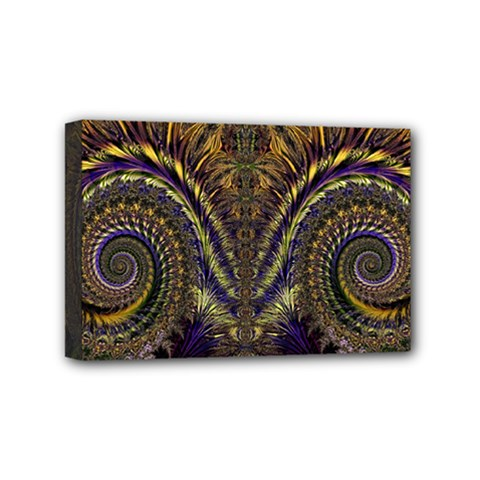 Abstract Fractal Pattern Artwork Mini Canvas 6  X 4  (stretched)
