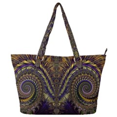 Abstract Fractal Pattern Artwork Full Print Shoulder Bag