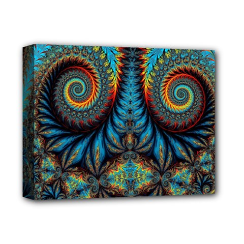 Abstract Art Fractal Creative Deluxe Canvas 14  X 11  (stretched)
