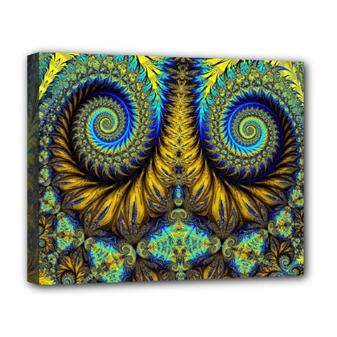 Abstract Art Fractal Creative Deluxe Canvas 20  X 16  (stretched)
