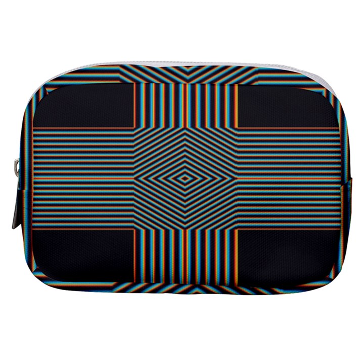 Cross Abstract Make Up Pouch (Small)