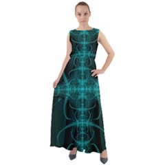 Abstract Art Design Digital Chiffon Mesh Maxi Dress
