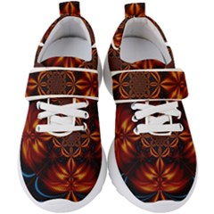 Abstract Art Artwork Fractal Design Kids  Velcro Strap Shoes by Pakrebo
