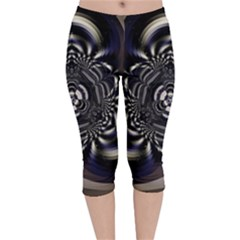 Abstract Artwork Art Fractal Velvet Capri Leggings