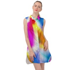 Color Concept Colors Colorful Sleeveless Shirt Dress by Pakrebo