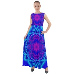 Digital Art Artwork Fractal Color Abstact Chiffon Mesh Maxi Dress